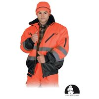 Warnschutzjacke 4 in 1 orange Leber & Hollman in versch....