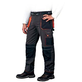 arbeitslatzhosen leber hollman gr 46 62 schwarz orange. Black Bedroom Furniture Sets. Home Design Ideas