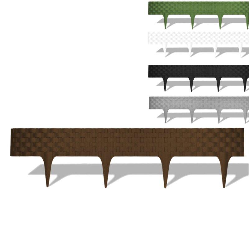 2 4m rasenkante beetbegrenzung kunststoff versch farben. Black Bedroom Furniture Sets. Home Design Ideas