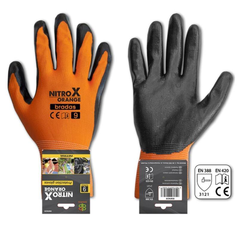 nitril handschuhe orange gr 9. Black Bedroom Furniture Sets. Home Design Ideas